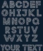Vector white alphabet 2