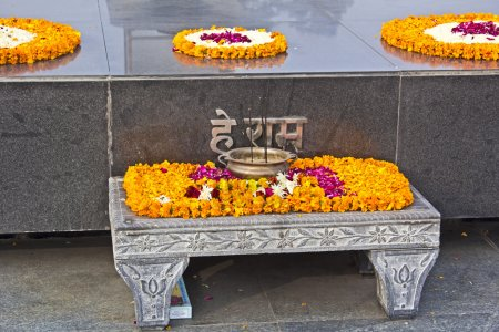 Detail of Mahatma Gandhi memorial