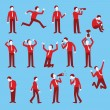 Cartoon character set of businessman in various po...