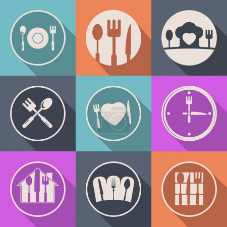 Vector kitchen icon food