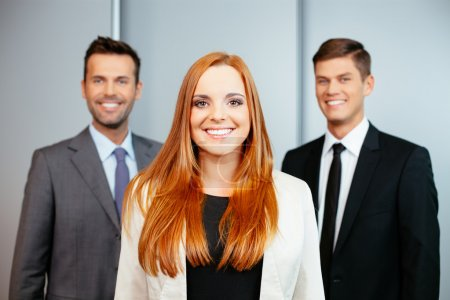 Photo for Portrait of three male and female confident professionals - Royalty Free Image