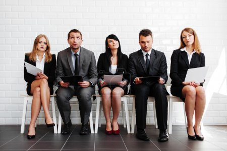 Photo for Group of business people waiting for job interview - Royalty Free Image