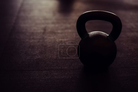 kettlebell on black floor