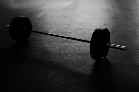 barbell on gym floor