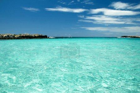 Photo pour Paysage marin de beauté de la rive dans une journée ensoleillée - image libre de droit