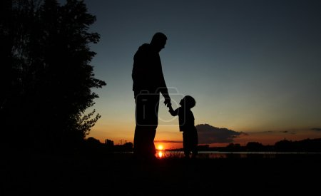 father and son silhouettes