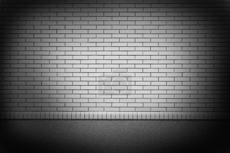 Photo for A new  grey brick wall in a background image - Royalty Free Image