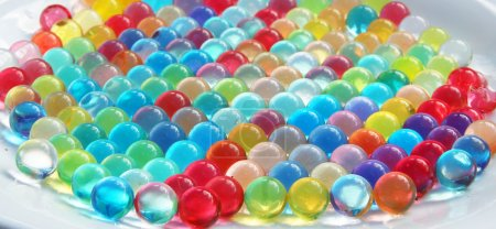 Background of different colors balls