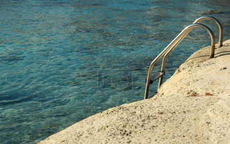 Metal Stairs to sea