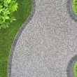 Garden design detail with curves seen from above...