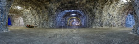 Panorama inside Salt mine Targu Ocna