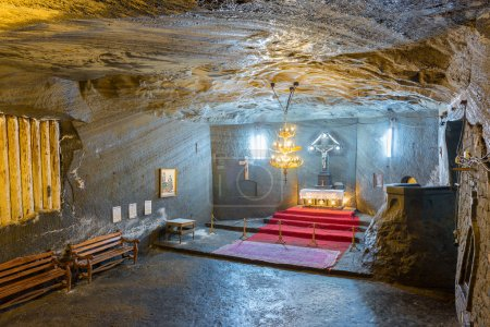Orthodox church inside Cacica salt mine