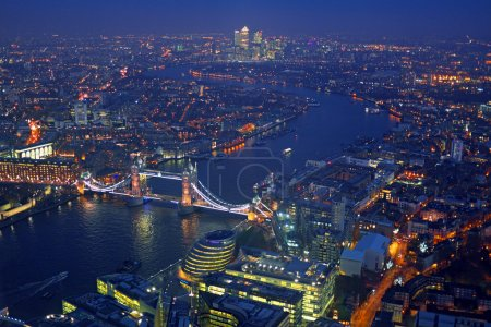London rooftop view panorama