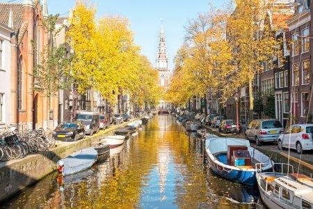 Zuiderkerk in Amsterdam the Netherlands in fall...
