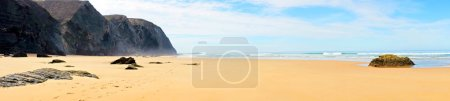 Photo for Sunset at Vale Figueiras beach in Portugal - Royalty Free Image