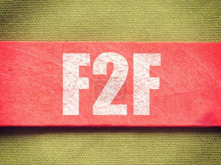 F2F - Face To Face. Internet Concept on Background old retro vintage style