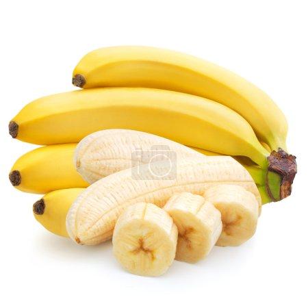 Foto de Un montón de bananas aisladas sobre fondo blanco. pat recorte - Imagen libre de derechos