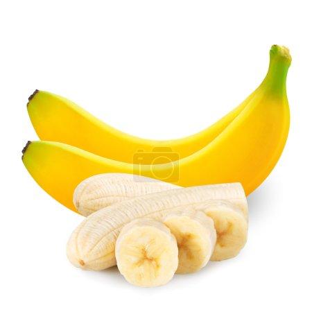 Photo for Bananas isolated on white backgroun - Royalty Free Image