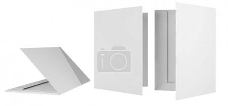 Photo for Template briefcase bid two cardboard bending 3d - Royalty Free Image