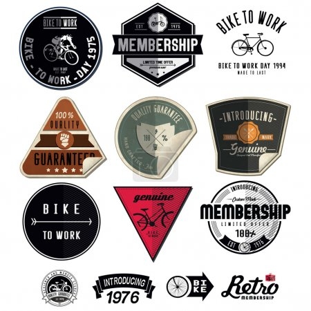 set emblems with bikes
