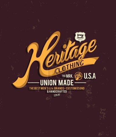 vintage emblem with heritage