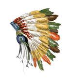vintage emblem with indian headdress