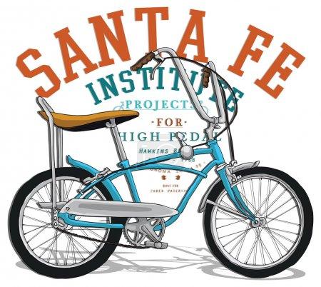 Illustration for Vector illustration, vintage emblem with bicycle - Royalty Free Image