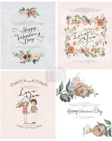Romantic valentine cards