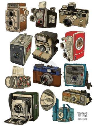 old vintage cameras