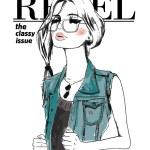 Vector illustration of fashion girl in trendy eyeglasses