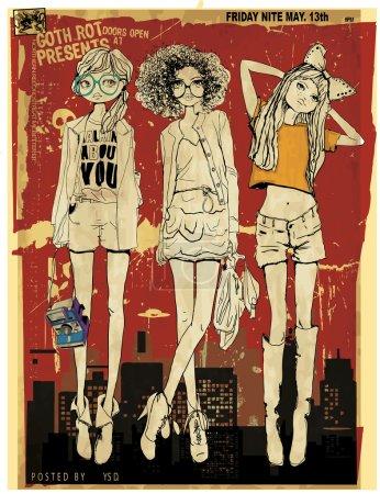 beautiful fashion girls