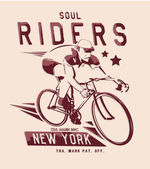 Vector illustration of retro vintage bicycle with rider