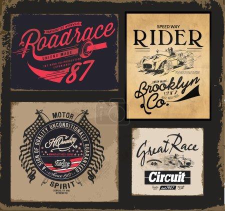 set vintage emblems