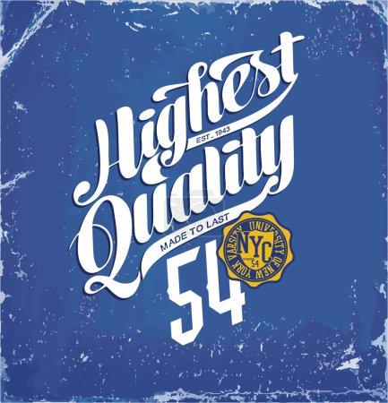 vintage emblem with highest quality
