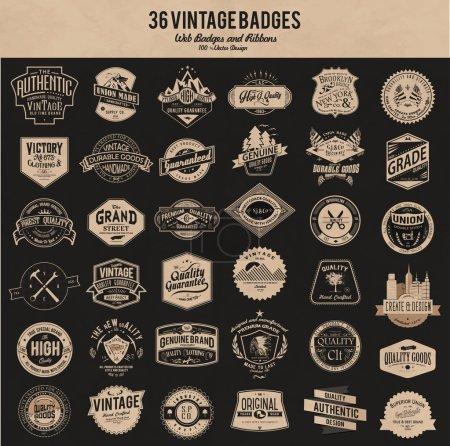 set vintage badges