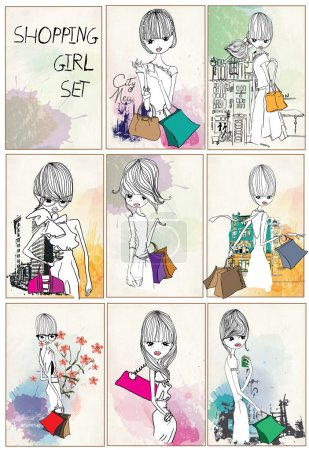 Fashion girls with bags