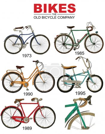Retro vintage bicycles