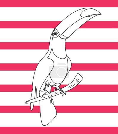 design tropical parrot