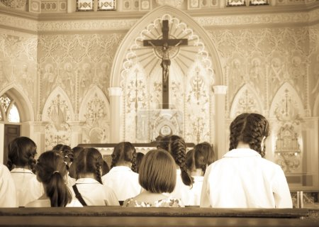 First communion - Stock Image
