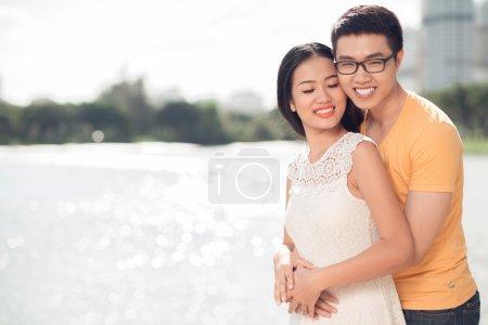 Loving Vietnamese couple