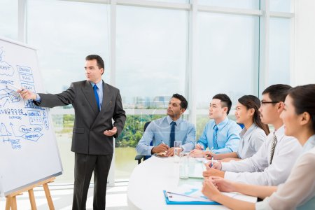 Businessman conducting training for employees