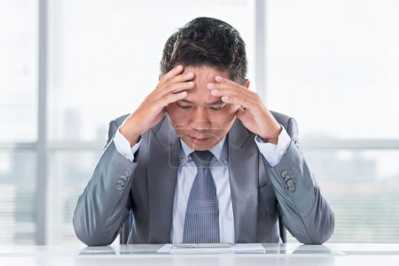 Photo for Portrait of a frustrated businessman - Royalty Free Image
