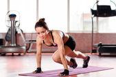 Training sportswoman