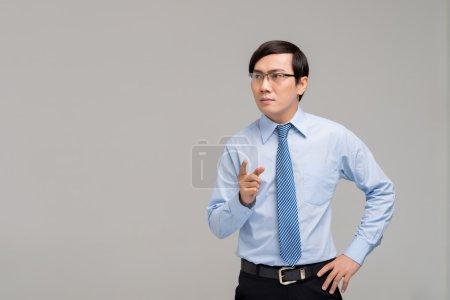 Asian businessman having idea