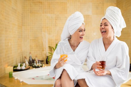 Friends in spa salon