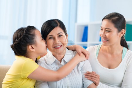 Photo for Portrait of three generations of women at home - Royalty Free Image