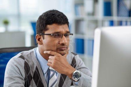 Concerned Indian businessman