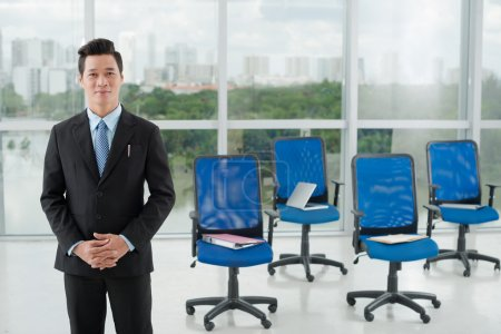 Asian business trainer