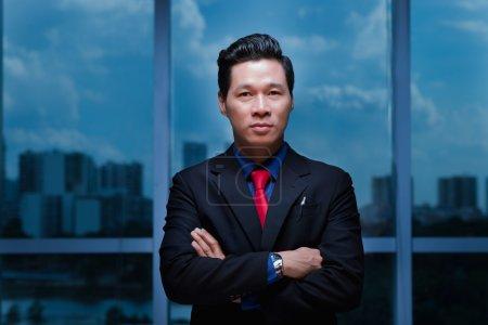 Elegant Vietnamese businessman