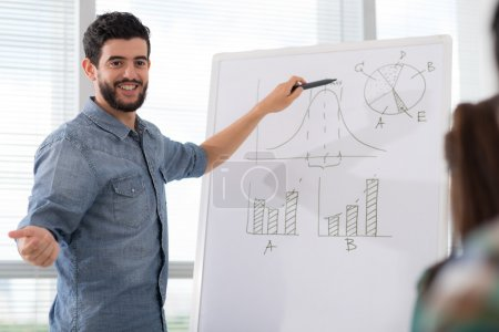 businessman conducting presentation
